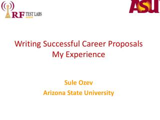 Writing Successful Career Proposals My Experience