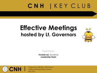 Effective Meetings hosted by Lt.  G overnors