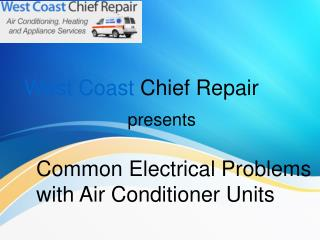 Common Electrical Problems with Air Conditioner Units