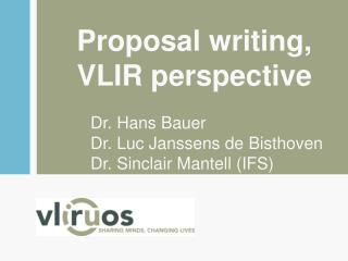 Proposal writing , VLIR  perspective