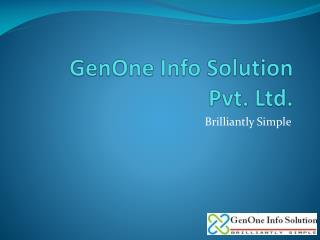 GenOne  Info Solution  Pvt. Ltd.