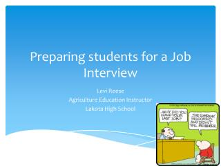 Preparing students for a Job Interview