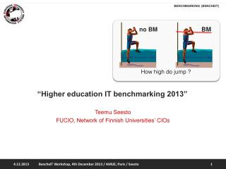 """Higher education IT benchmarking 2013"""