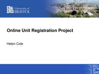 Online Unit Registration Project