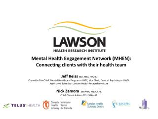 Mental Health Engagement Network (MHEN):  Connecting clients with their health team