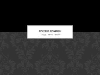 Course COM2155: