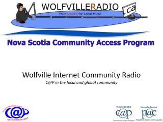 Nova Scotia Community Access Program