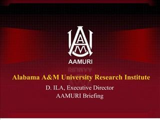 alabama am university research institute