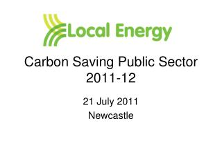 Carbon Saving Public Sector 2011-12