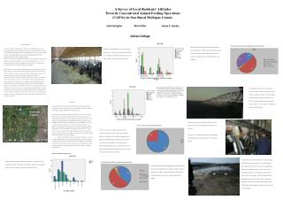 A Survey of Local Residents' Attitudes  Towards Concentrated Animal Feeding Operations  (CAFOs) in One Rural Michigan C