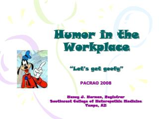 Humor in the Workplace
