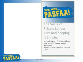 The Value of Private Lender Lists and Keeping It Simple.