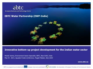 Innovative bottom-up project development for the Indian water sector