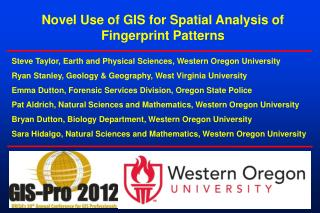 Novel Use of GIS for Spatial Analysis of Fingerprint Patterns