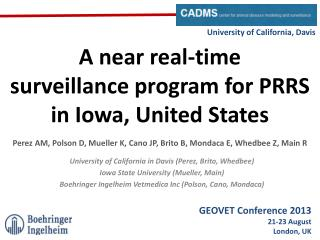 A near real-time  surveillance  program  for  PRRS  in  Iowa, United States