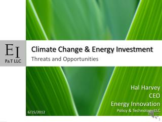Climate Change & Energy Investment