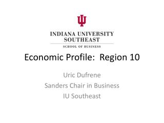 Economic Profile:  Region 10