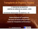 transplante de  rg os e tecidos