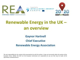 Renewable Energy in the UK – an overview
