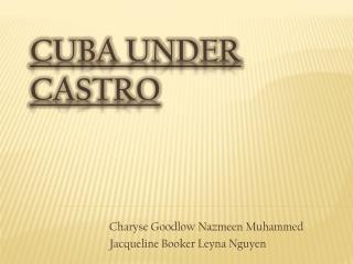 Cuba Under Castro