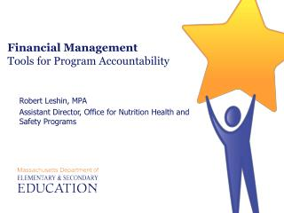 Financial Management  Tools for Program Accountability