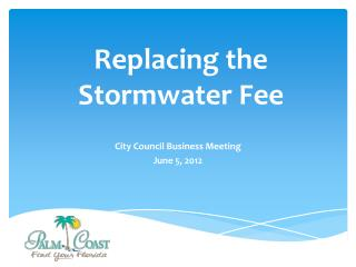 Replacing the Stormwater Fee