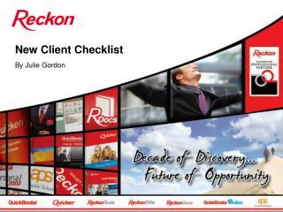 New Client Checklist