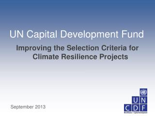 Improving the Selection Criteria for Climate Resilience Projects