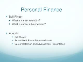Personal Finance