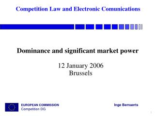 competition law and electronic comunications