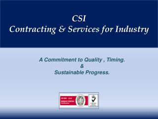 CSI Contracting & Services for Industry