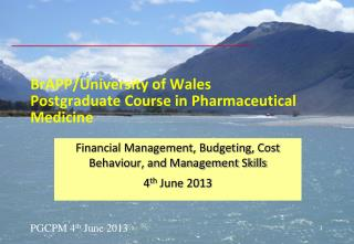 BrAPP/University of Wales Postgraduate Course in Pharmaceutical Medicine