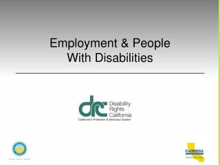 Employment & People With Disabilities