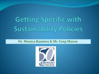 Getting Specific with Sustainability Policies