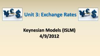 Keynesian Models (ISLM) 4/9/2012