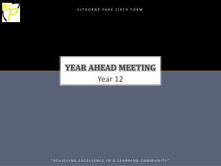 Year Ahead meeting