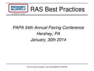RAS Best Practices