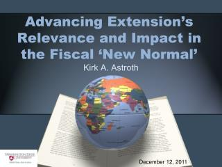 Advancing Extension's Relevance and Impact in the Fiscal 'New Normal'