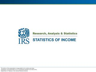 Statistics Of Income (SOI) History and Mission