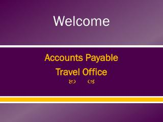 Accounts Payable Travel Office