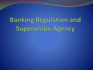 Banking Regulation and Supervision Agency