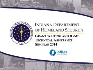 Grant Writing and iGMS Technical Assistance Seminar 2014