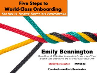 Five Steps to World-Class Onboarding:  The Key to Turning Talent into Performance