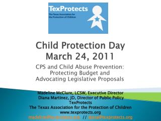 Child Protection Day March 24, 2011