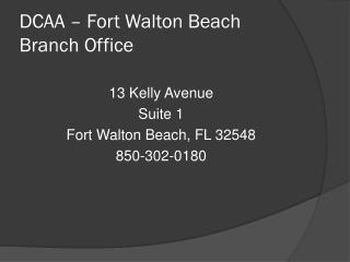 DCAA – Fort Walton Beach Branch Office