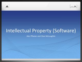 Intellectual Property (Software)