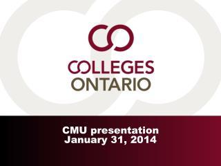 CMU presentation January 31, 2014