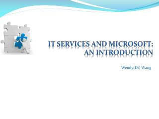 IT Services and Microsoft:  An Introduction