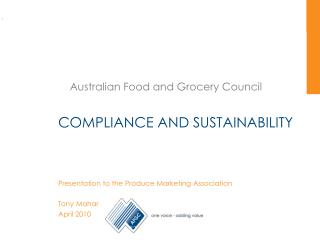 COMPLIANCE AND SUSTAINABILITY