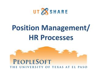 Position Management/  HR Processes